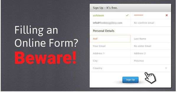 Collecting data from online forms even before you click submit!