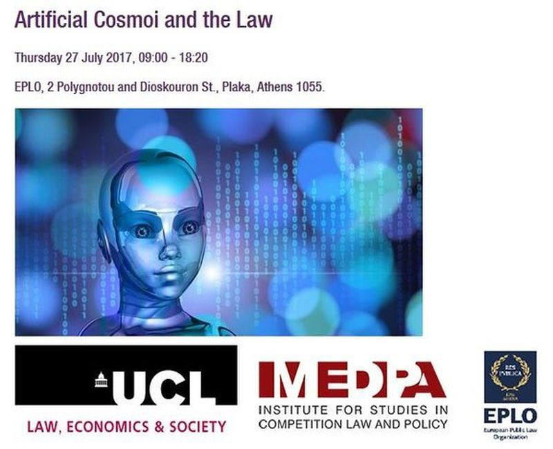 1st Artificial Cosmoi and The Law (27/07/2017, Athens)