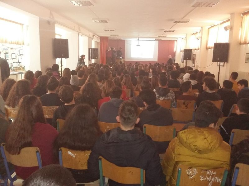 Visit and presentation to the students of the Secondary School of Gazi (19/02/2019, Heraklion)