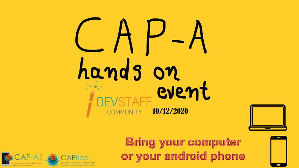CAP-A Hands On Event @ Devstaff Meetup (10/12/2020 ,Online)